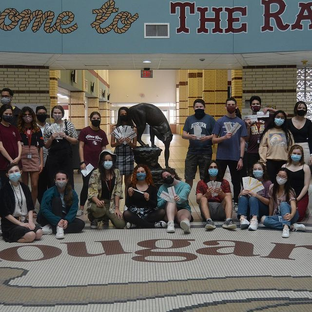 CRHS Choir members after a scavenger hunt in May 2021.
